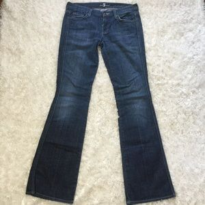 7 for all mankind dark wash flared jeans size 29